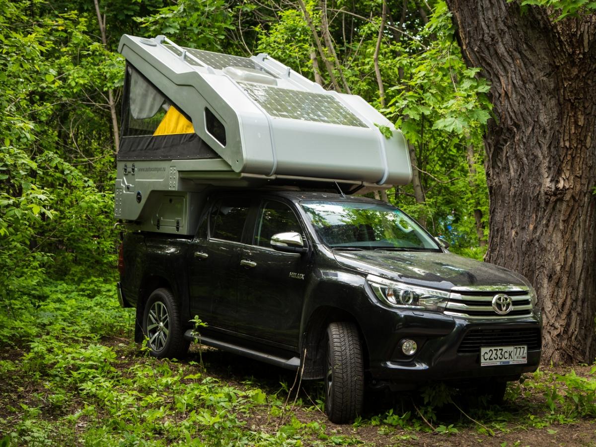Toyota Hilux 8 с двухконтурной задней пневмоподвеской